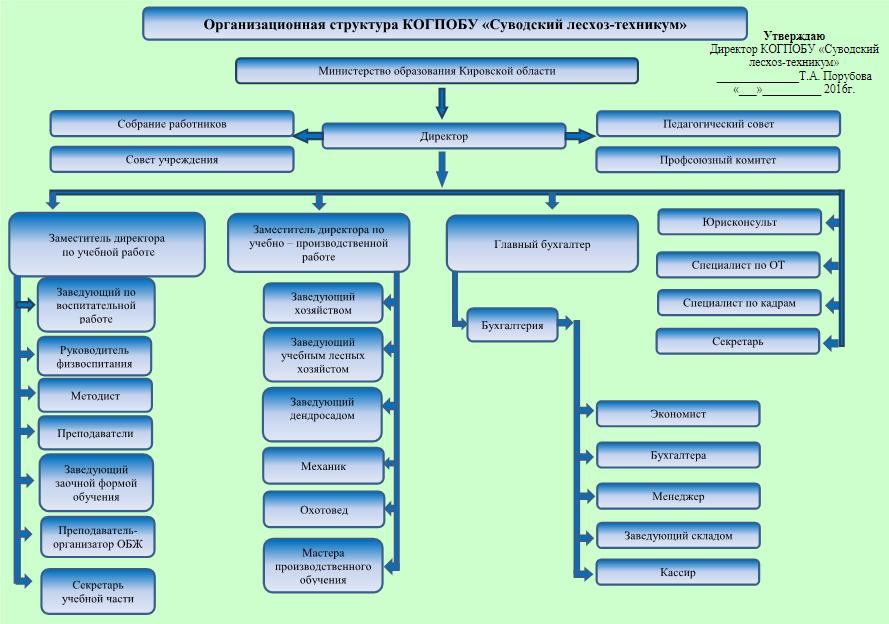 Организационная структура КОГОБУ СПО
